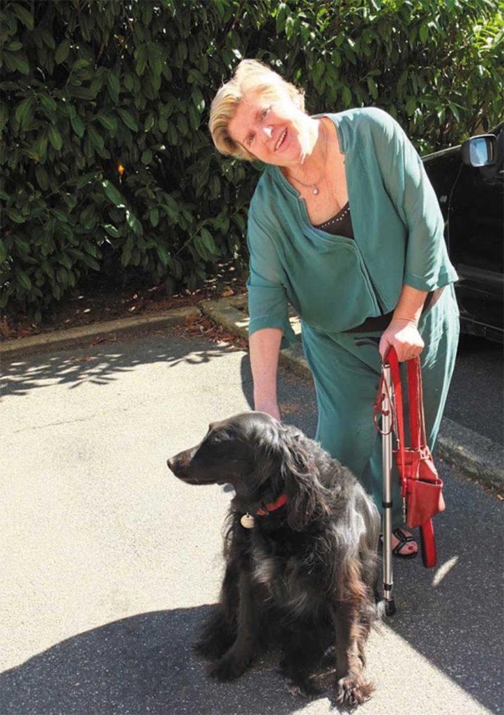 Lilian Sujanszky avec son chien